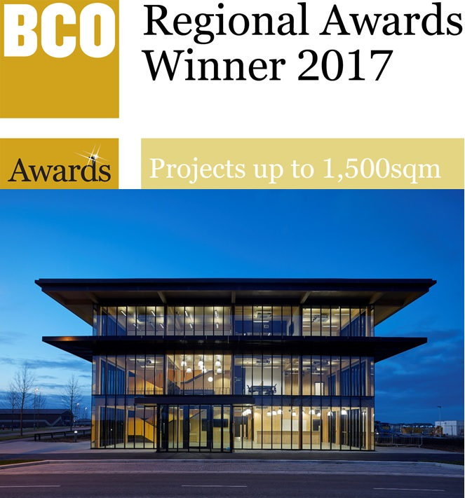 FLATT Wins BCO Regional Awards 2017 – Alconbury Weald Club