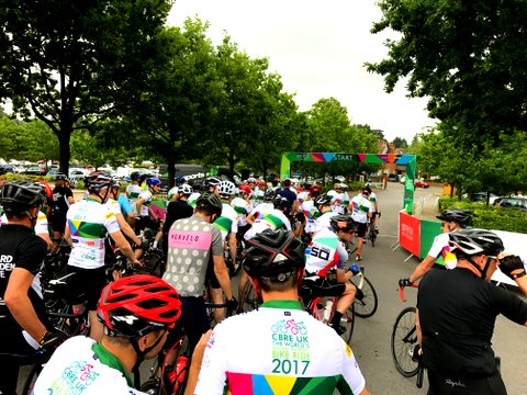 FLATT Takes Part In The World's Biggest Property Bike Ride Charity Event With CBRE
